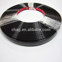 Negro chrome pvc tira de ajuste para ribete decoración