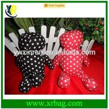fashion folding nylon dot print bear animal foldable shopping bags