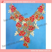 Wholesale low MOQ neck designs of collar lace