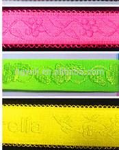 Hot sale customized jacquard fluorescent green elastic bra straps for bra accessory