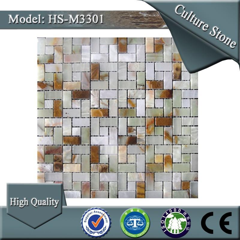 Hs m3301 la maison mur ext rieur d coratif carrelage for Carrelage mosaique exterieur