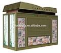 Extérieur kiosque distributeurs/fast food stand kiosque/collation./journal/magazines. boutiquepour détail, ninbo datang