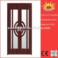 Chers moderne, fantaisie. design intérieur en pvc porte en bois sc-p079