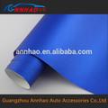 1.52*20m material de pvc rollo de la burbuja y el cuerpo pegatinas utilizado azul mate cromo 3m coche plástico de vinilo