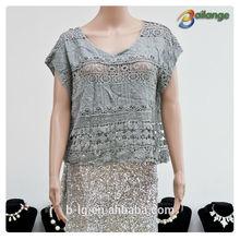 Bailange blouses & tops product type lace blouse new fashion hollow out Blouses & Tops Product Type blouse