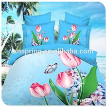 5D hot sales red bedding set 100% cotton polyester tiger kids cover 3d bedding set