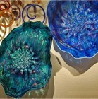 hand blown glass wall art