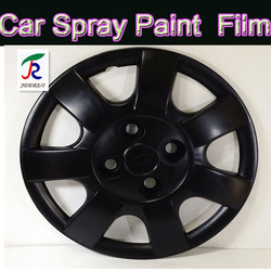 Easy peelable after using 3-5years piano black spray paint,plastic coating spray,water removable spray paint