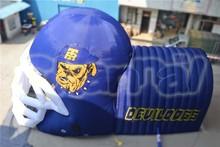 Large attractive football inflatable helmet