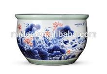 Chinese Jingdezhen antique handmade blue and white porcelain decorative flower plant pots