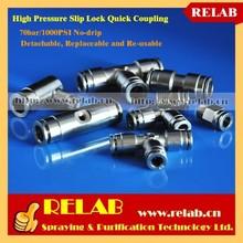 1000PSI PE Nylon Plastic Tube Humidifying High Pressure Push-in Quick Coupling