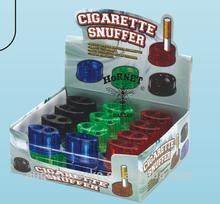 HT26 novelty cool cigarette snuffer Ashtray elliptic type 2 holoe plastic cigar portable Pocket funny novelty cigarette snuffer