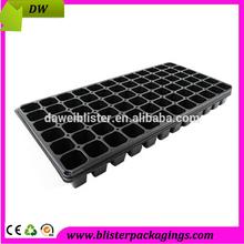 Dongguan Manufacturer Plastic Vacuum Molded Square Seedling Pots Plant Pots