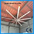 De los proveedores del Alibaba 22ft caliente de la venta de poco ruido Industrial ventilador de techo estator de bobinado