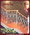 Ferro forjado decorativo trilhos da escada interior e madeira