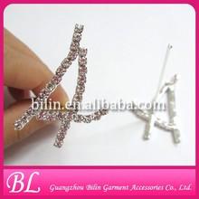 wedding bouquet decorative diamante number cake pick pin