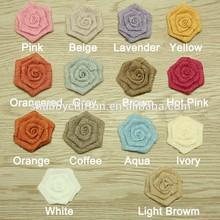 Handmade Pure Linen Rose Hair Flower,Fashion Design