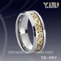 drago carburo di tungsteno celtic ring mens gioielli da sposa tracciamento gps piccolo chip