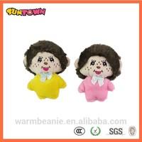 custom plush monchichi dolls from china