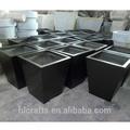fibra de vidro personalizado baratos vaso preto em guangzhou