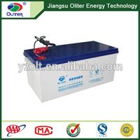 Best quality!AGM deep cycle solar nano gel battery 12V 200AH