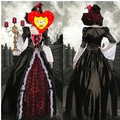 Masque feminino vampiro vestidos de cosplay uniformes de halloween bruxa gótico vestido roupa qawc- 2424