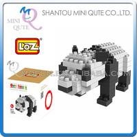 Mini Qute Animal Chinese panda loz diamond nano block plastic cube building blocks bricks educational toy 3d puzzle game NO.9312