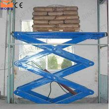 Stationary vertical lift mechanism for goods