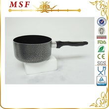 MSF 1L non stick coating interior and powder painting exterior milk pot aluminum cooking pan
