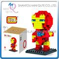 Mini qute marvel avengers o homem de ferro posicionando diamante nano bloco cubo de plástico blocos de construção de tijolos de brinquedo educacional não. 9158