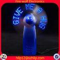 nueva promoción de buena calidad eléctrica mini ventilador eléctrico de montaje de las piezas para regalo de la promoción