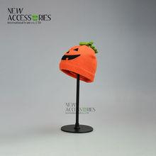 children's Halloween pumpkin knit hats