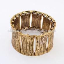 Fashion fake gold bangle wide elastic bangle bracelets