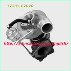 Turbo charger CT12B turbo 17201-67020 for Toyota use