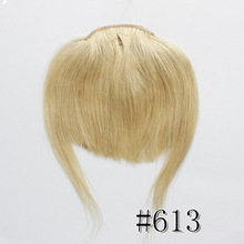 Women's human hair fringe Brazilian Remy Hair Extensions Products color #613 Light Blonde