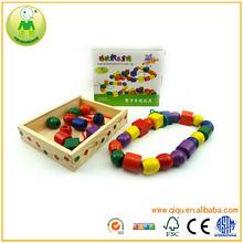 Popular Big Wood Box Children Wooden Beads Game