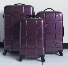 abs and pc travel trolley luggage set