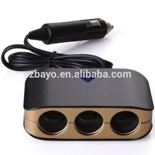 car accessories 12V DC adapter universal triple sockets cigarette lighter
