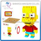 Mini Qute Kawaii barts Simpson loz diamond nano block plastic cube building blocks brick educational toy 3d puzzle game NO.9337