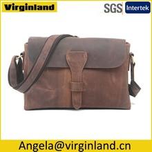 508 Popular Design Vintage Men Leather Shoulder Bag Messenger Bag Business Bag