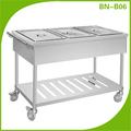 Cosbao eléctrico de acero inoxidable de la calle expendedoras carrito( bn- b06)
