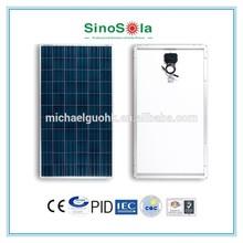 high watt power solar panel with TUV/IEC61215/IEC61730/CEC/CE/PID