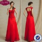 Goingwedding New Style No Train Wedding Dress 2015 Red Bridal Dress Lace Wedding Dresses with Keyhole Back Bridal Wear FG14001