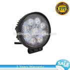 HOT! 27W Square Epistar Heavy Duty LED Work Lamp Hotsales 12-24V Vehicle Round 9pcs * 3W Epistar LED Utility Light