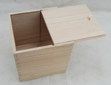 unfinished sliding wooden chest for industrial packaging use