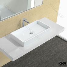 Hot sales basin resin , stone resin wash basin , acrylic resin countertop basin