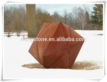 New product creative christmas decor paper bag box corten steel craft