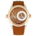 la parte superior el logotipo personalizado de alta calidad de doble reloj de hora de hong kong