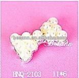 For fall nail art ,bling bling bowtie bowknot pearl nail menicure 3D 2014