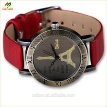latest design for ladies genuine leather watch vintage watch